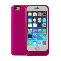 3500mAh External Battery Backup Charger Case Pack Power Bank with Viewing Stand for iPhone 6 4.7inch - Rose-Carmine