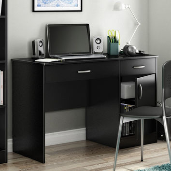 Home Office Work Desk in Black Finish