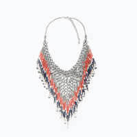 Metal mesh necklace