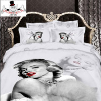3D Marilyn Monroe Bedding Set and Quilt Cover