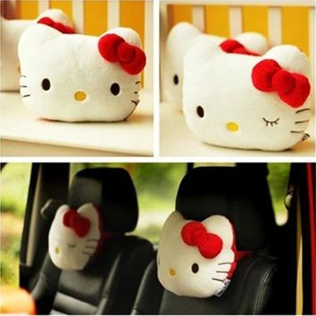 One pair Lovely Pink Hello Kitty Car Headrest