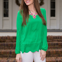 Fresh Air Blouse, Green