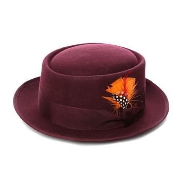 Ferrecci 100-percent Wool Felt Pork Pie Hat a9c5cd2dfb2c