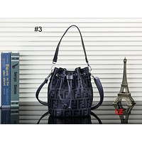 FENDI 2018 new drawstring printed letter crossbody shoulder bag female bag bucket bag #3
