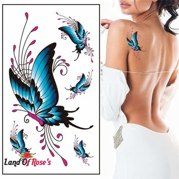 3D Temporary Tattoo Sticker Waterproof Body Art Butterfly Tattoo  10.5CM x 6CM