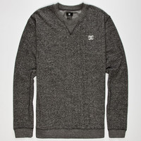 Dc Shoes Rebel Mens Sweatshirt Heather Black  In Sizes