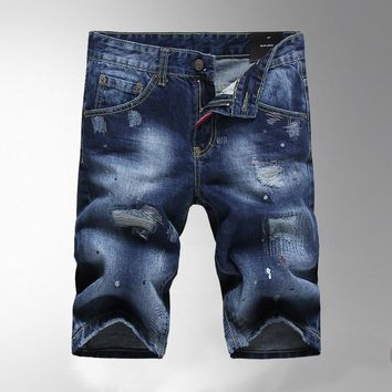 Men's Fashion Summer Shorts Denim Men Slim Jeans [6528366467]