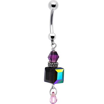 STUDIO KATIA Violaceous Dangle Banana Belly Ring
