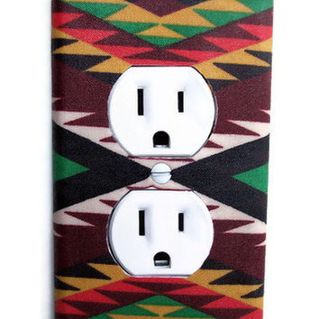 Aztec Weave Outlet Plate, wall decor