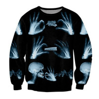 Break it Down Roll it Smoke it Skeleton Smoking Weed Black Sweatshirt