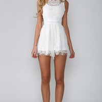 HelloMolly | Valencia Playsuit White - Dresses