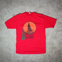 Vintage SOFT THIN Cayman Islands Tee! UNISEX Size Small
