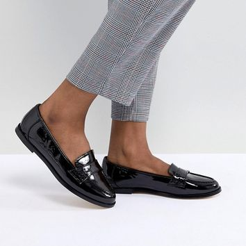 London Rebel Flat Loafers at asos.com