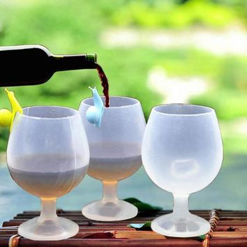 1pcs Silicone Cute Drinking Wine Glasses Champagne Cocktail Glass Goblets