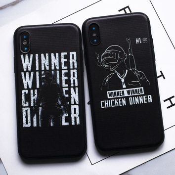 Hot Game PUBG Winner chicken Dinner soft silicon Case For iPhone 5s SE 8 Plus X Funda Coque  Cover For iPhone 6 6S 7 Plus Case