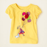 baby girl - short sleeve tops - bubble sleeve tee | Children's Clothing | Kids Clothes | The Children's Place