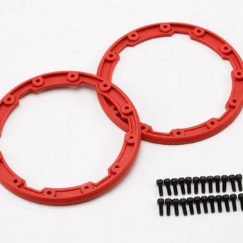 5667 - Sidewall protector, beadlock style (red) (2)/ 2.5x8mm CS (24) (for use with Geode wheels)