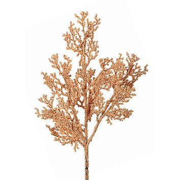 """Plastic Outdoor Seeded Coral Branch - 33"""" Tall"""
