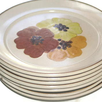 ON SALE Denby Stoneware Dinner Plate Set of 7
