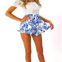 Blue Stem Romper