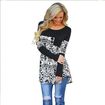 Swagger Dynasty irregular Fashion Casual Long Sleeve Cotton Loose Top, (Due to high demand, we ran out of Sizes M&S)