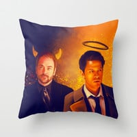 Good & Bad - Supernatural - Castiel Crowley Throw Pillow by KanaHyde