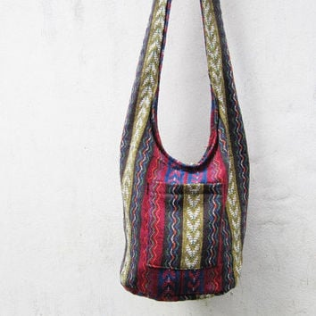 bohemian crossbody bag ,aztec messenger bag, ethnic sling bag, tribal hobo bag, indian geometric  hipster bag, coachella-Y012