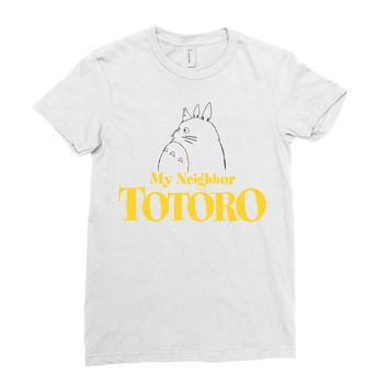 My Neighbor Totoro Ladies Fitted T-Shirt