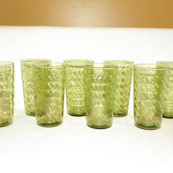Set of 8 Anchor Hocking 11 oz Jubilee Glasses
