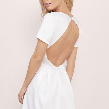 Paloma Backless Skater Dress $42