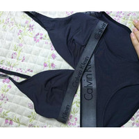 """Calvin Klein"" Brassiere Bra Brief Panty Underwear Lingerie Bikini Set Two-Piece"