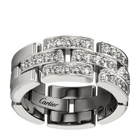 Cartier Pavé Diamond Maillon Panthère Ring | Harrods.com