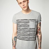 ASOS | ASOS T-Shirt With Chest Stripe at ASOS