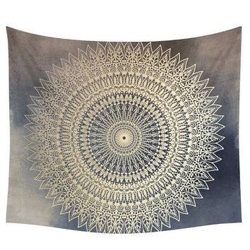 Polyester Hippie Tapestry Beach Shawl Throw Roundie Mandala Wall Hanging Towel 150cm*150cm