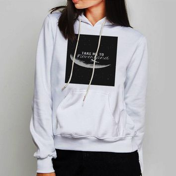 Unisex Hoodie Cool Disney Peter Pan Take Me To Neverland Quote