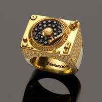 Mathmatiks Heritage Turntable Ring  18k Solid Gold by mathmatiks