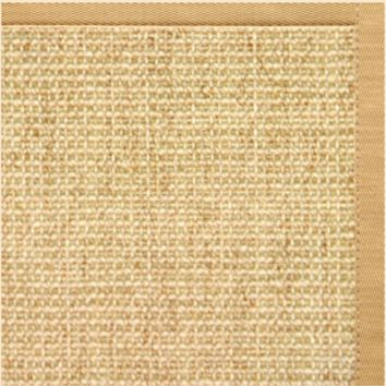 Sustainable Lifestyles Sand Sisal Rug with Honeycomb Cotton Border