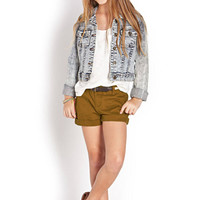 FOREVER 21 GIRLS Crisp Cuffed Shorts