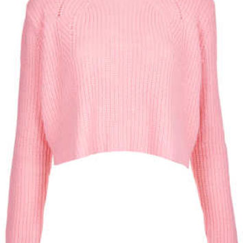 Knitted Ribbed Crop Jumper - New In This Week  - New In