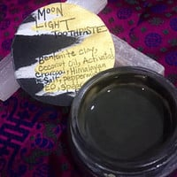 Moonlight all natural toothpaste; bentonite clay, activated charcoal, and double mint toothpaste