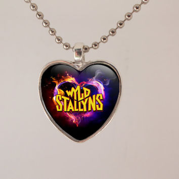 Wyld Stallyns Heart Necklace- unique, gift for her, cool, 80s geek, retro, gift for teen, girlfriend, cute