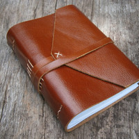 "Old Times Leather Journal / Handmade / 6x4"" /  Free Initials"