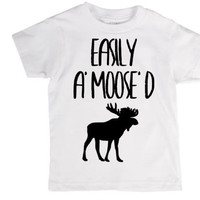Easily a moosed, toddler shirt, kids shirt, pun, nerd, animal pun, joke, moose, amused, word play, grammar nerd, English nerd, language