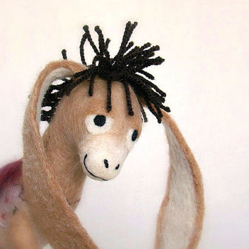 Nestor The LongEared Christmas Donkey Art Toy by TwoSadDonkeys