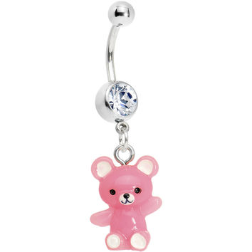 Perfectly Pink Teddy Bear Belly Ring