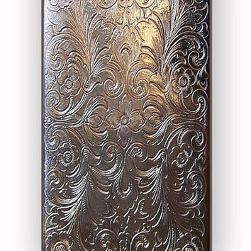 Vintage Cigarette Case Silver Metal for iPhone 4/4S Case **