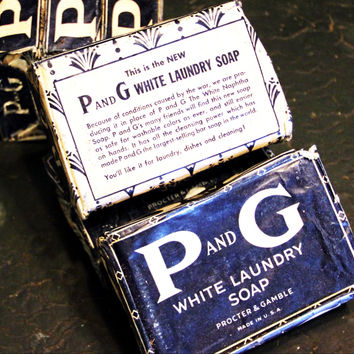 2 P and G White Laundry Soap Bars Unused