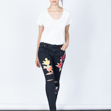 Bloom into Color Jeans