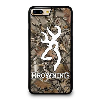 CAMO BROWNING iPhone 4/4S 5/5S/SE 5C 6/6S 7 8 Plus X Case