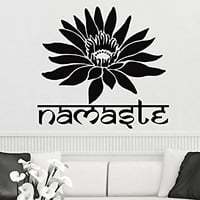 Lotus Wall Decal Vinyl Sticker Decals Mandala Flower Yoga Namaste Indian Ornament Moroccan Pattern Om Home Decor Bedroom Art Design Interior NS902
